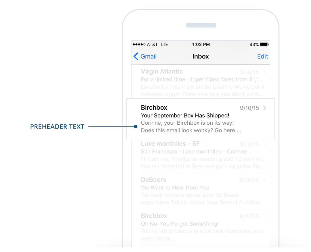 Cabeçalho de email marketing