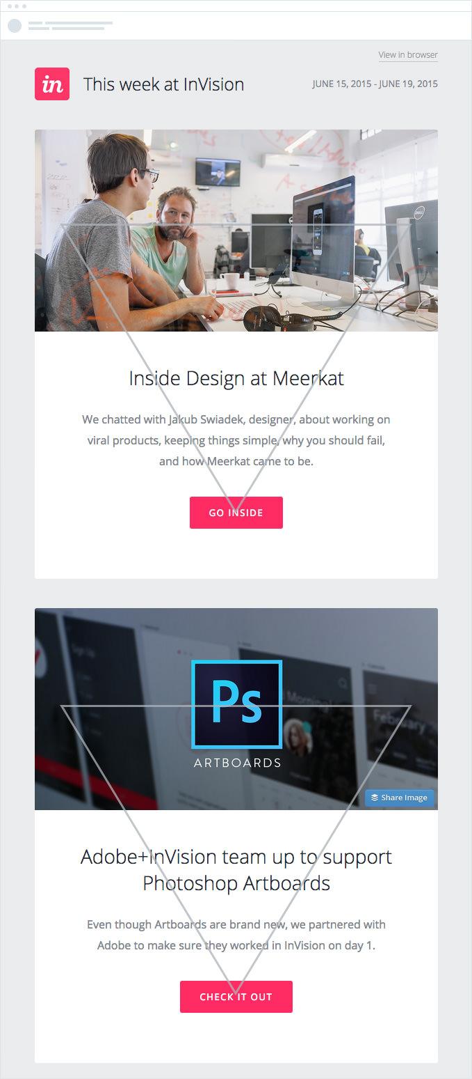 Pirâmide invertida email marketing