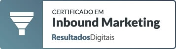 Certificado RD Station Inbound Marketing